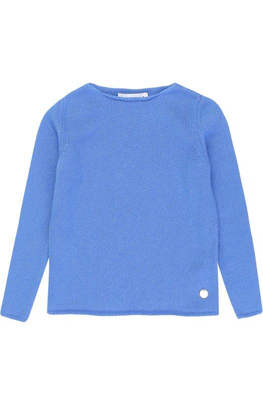 Купить Кашемировый пуловер прямого кроя Simonetta, 1H9010/HB880/7-10, Италия, Голубой, Кашемир: 100%;