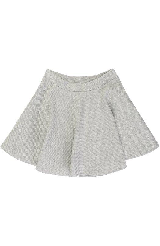 Купить Хлопковая мини-юбка свободного кроя Polo Ralph Lauren, 313670651, Китай, Серый, Хлопок: 92%; Полиэстер: 7%; Эластан: 1%;
