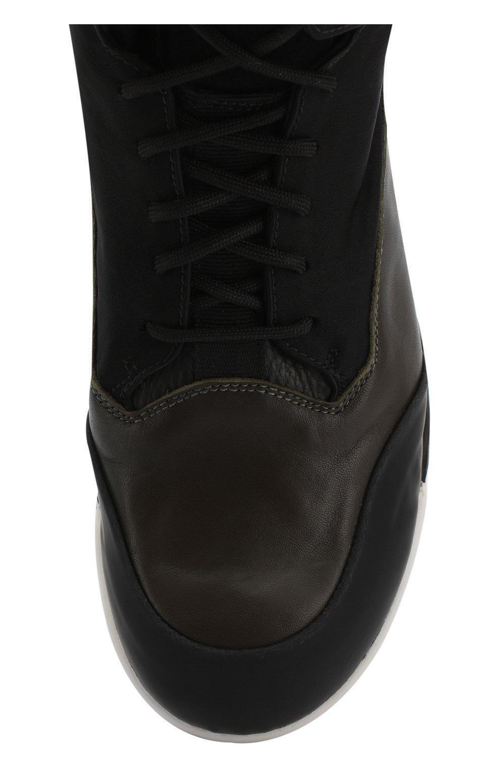 Текстильные ботинки на шнуровке