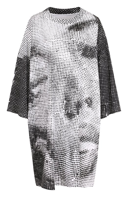 Купить Удлиненная футболка свободного кроя с принтом Maison Margiela, S29GC0204/S22155, Италия, Черно-белый, Хлопок: 100%;
