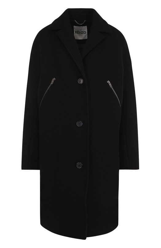 Шерстяное пальто свободного кроя Kenzo