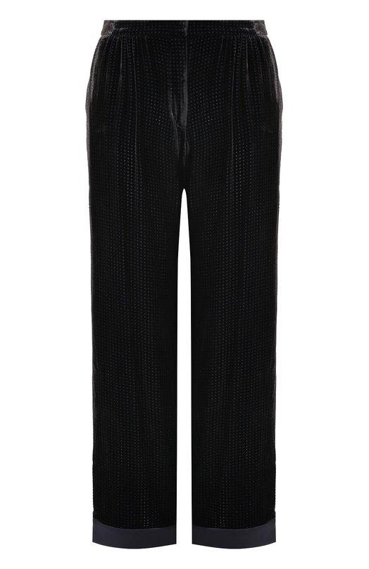 Бархатные брюки прямого кроя с защипами Armani Collezioni Китай 5193244 ZMP14T/ZM830  - купить со скидкой