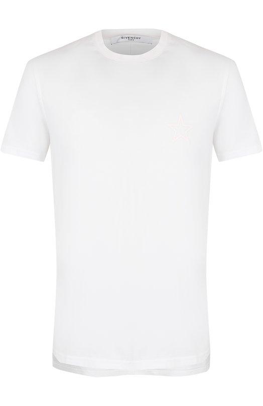Купить Хлопковая футболка с аппликацией Givenchy Португалия 5192709 17W7191651