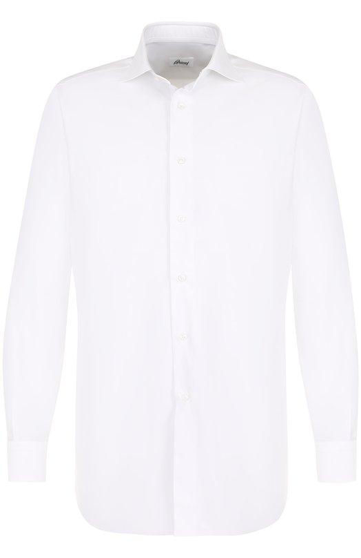 Купить Хлопковая сорочка с воротником кент Brioni, RCL8/0601Z, Италия, Белый, Хлопок: 100%;