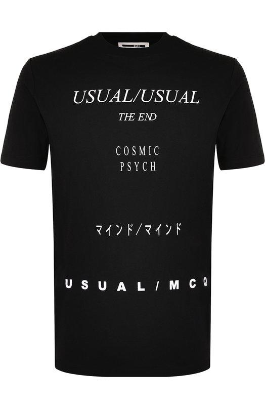 Купить Хлопковая футболка с принтом MCQ Турция 5194704 277605/RIT71