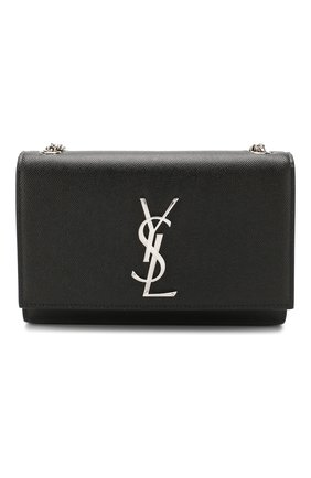 Сумка Monogram medium на цепочке Saint Laurent черная | Фото №1
