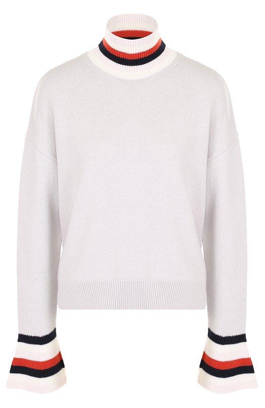 Купить Шерстяной свитер свободного кроя MRZ, FW17-0138, Италия, Светло-серый, Шерсть: 70%; Кашемир: 30%;