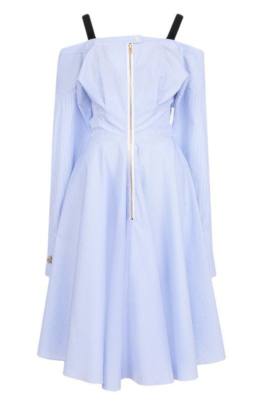 Купить Приталенное хлопковое платье в полоску Natasha Zinko Польша 5191502 PF8106
