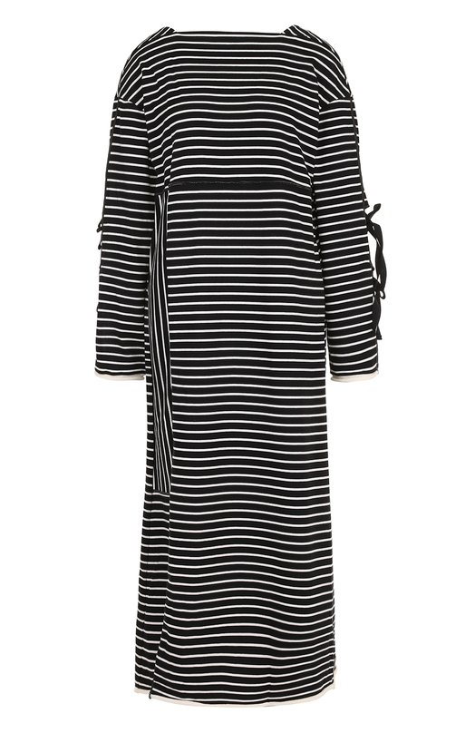 Купить Хлопковое платье свободного кроя в полоску 3.1 Phillip Lim, P171-9918SCJ, Португалия, Черно-белый, Хлопок: 100%;