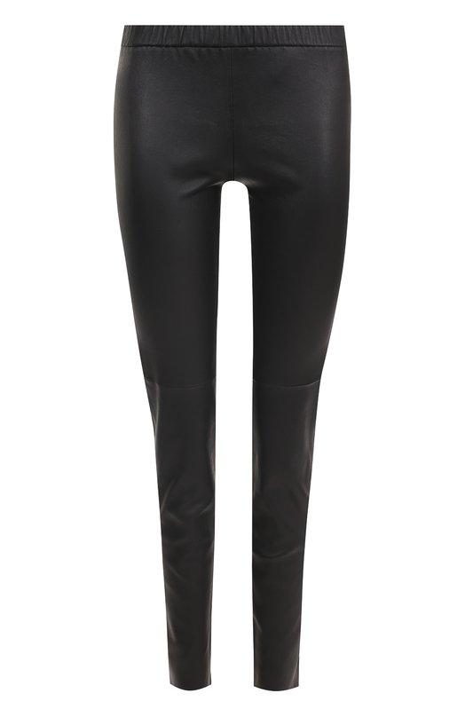 Купить Кожаные брюки-скинни с эластичным поясом MICHAEL Michael Kors, MH53353FR8, Китай, Черный, Кожа натуральная: 100%;