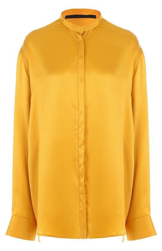 Купить Шелковая блуза свободного кроя с воротником-стойкой Haider Ackermann Македония 5190877 174-6006-125