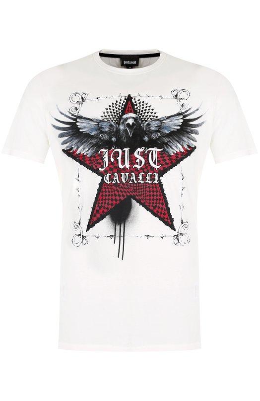 Купить Хлопковая футболка с принтом Just Cavalli Турция 5192480 S03GC0439/N20663