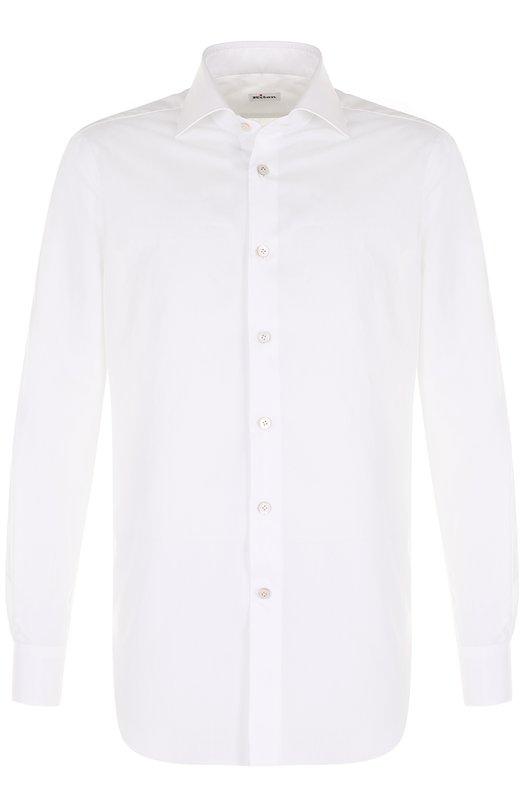Купить Хлопковая сорочка с воротником акула Kiton, UCIH000340100I, Италия, Белый, Хлопок: 100%;