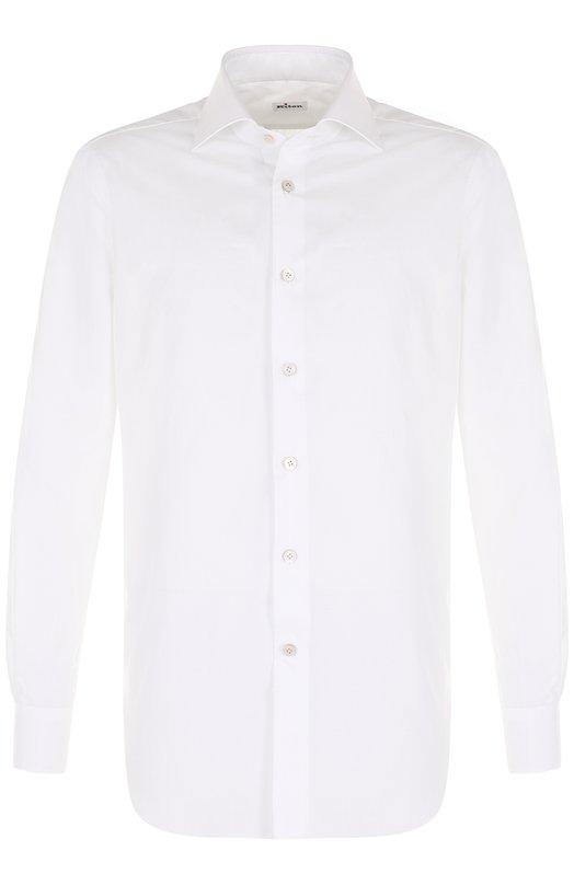 Купить Хлопковая сорочка с воротником акула Kiton, UCIH000310101E, Италия, Белый, Хлопок: 100%;