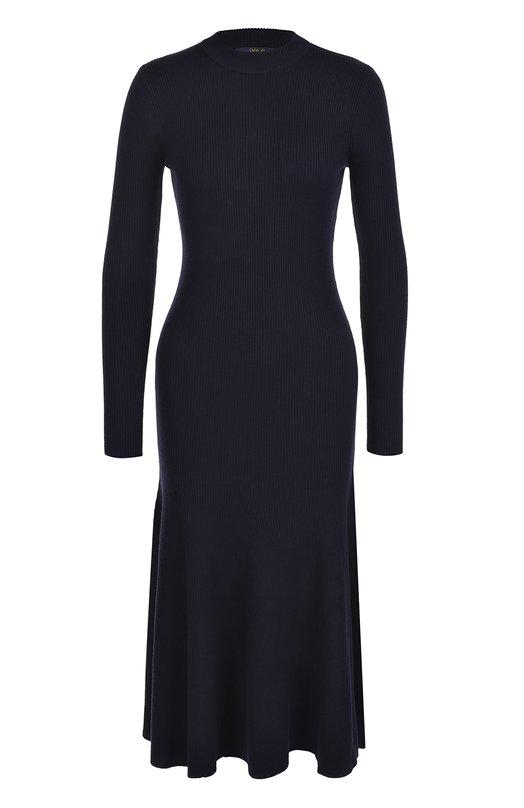 Купить Приталенное платье-миди с длинным рукавом Polo Ralph Lauren, 211670785, Китай, Темно-синий, Шерсть: 100%;