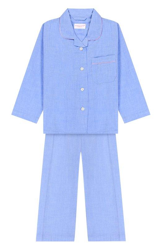 Купить Хлопковая пижама Derek Rose, 7006-AMAL001/3-12, Чехия, Голубой, Хлопок: 100%;