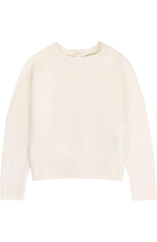 Купить Пуловер фактурной вязки с бантами на спинке Polo Ralph Lauren, 311669720, Китай, Белый, Кашемир: 4%; Вискоза: 33%; Полиамид: 23%; Шерсть ягненка: 20%; Хлопок: 20%;