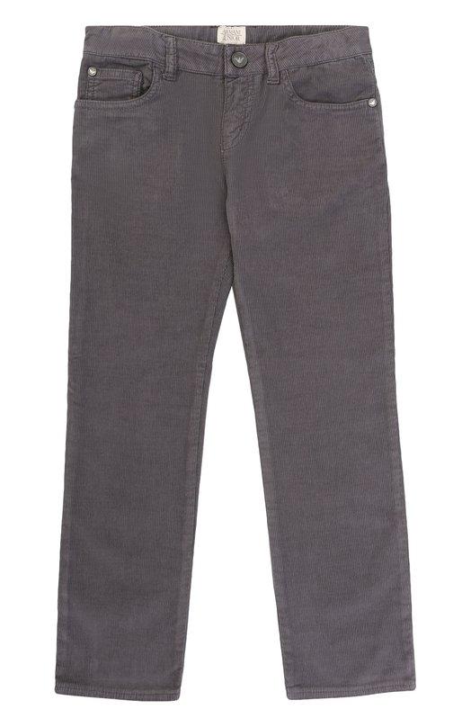 Купить Джинсы прямого кроя с логотипом бренда Armani Junior, 6Y4J02/4N1NZ/11A-16A, Марокко, Серый, Хлопок: 98%; Эластан: 2%;