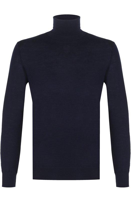 Купить Шерстяная однотонная водолазка Polo Ralph Lauren, 710667095, Китай, Темно-синий, Шерсть меринос: 100%;