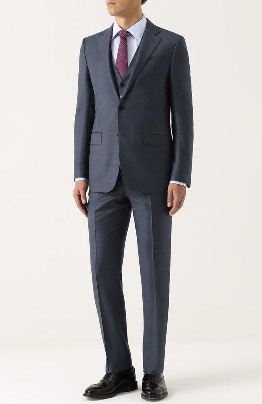 Купить Шерстяной костюм-тройка Ermenegildo Zegna Швейцария 5194048 222544/321225