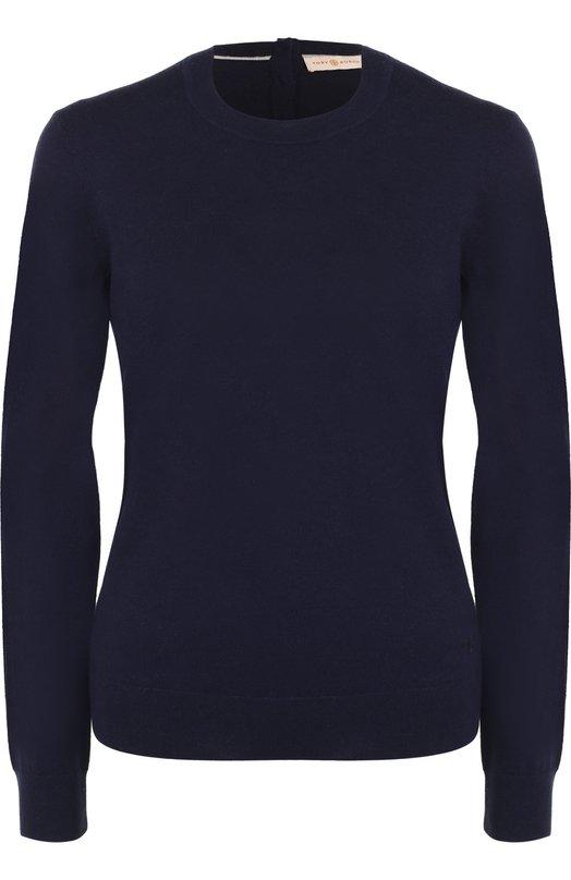 Кашемировый пуловер прямого кроя Tory Burch