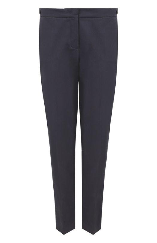 Купить Укороченные брюки прямого кроя со стрелками Loro Piana, FAF4054, Италия, Темно-серый, Хлопок: 97%; Эластан: 3%;