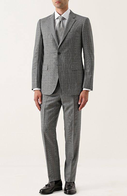 Купить Шерстяной костюм с пиджаком на двух пуговицах Lanvin, RMSU0004-D04500A17, Италия, Темно-серый, Шерсть: 100%; Подкладка-вискоза: 100%;