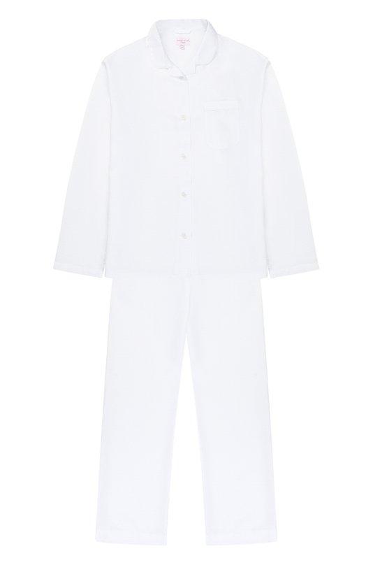 Купить Хлопковая пижама Derek Rose, 7006-KATE002/13-16, Чехия, Белый, Хлопок: 100%;