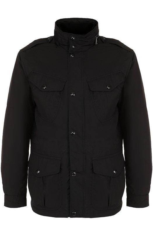 Купить Пуховая куртка на молнии с воротником-стойкой Polo Ralph Lauren, 710671583, Китай, Черный, Пух: 90%; Полиэстер: 100%; Подкладка-полиамид: 100%; Перо: 10%; Полиамид: 10%;