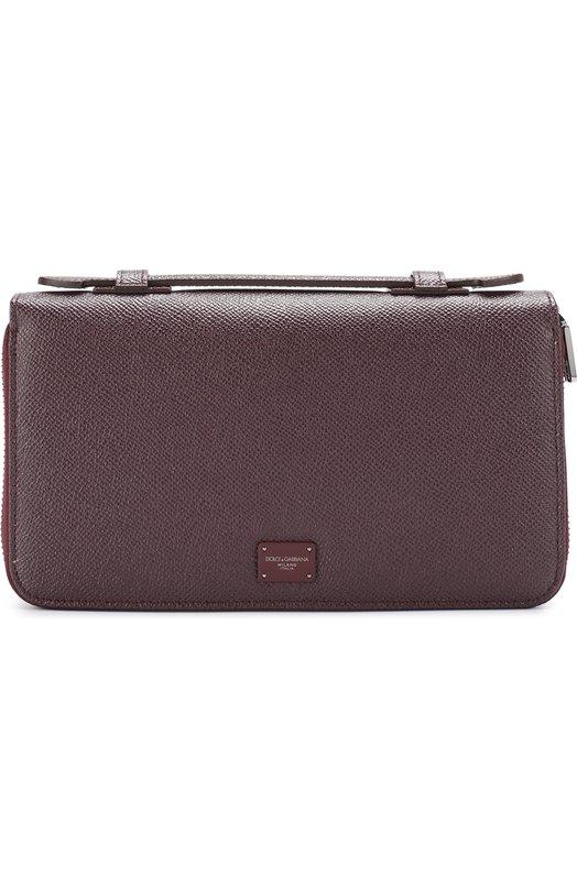 Купить Кожаный футляр для документов Dolce & Gabbana, 0115/BP2220/AI359, Италия, Бордовый, Кожа натуральная: 100%;