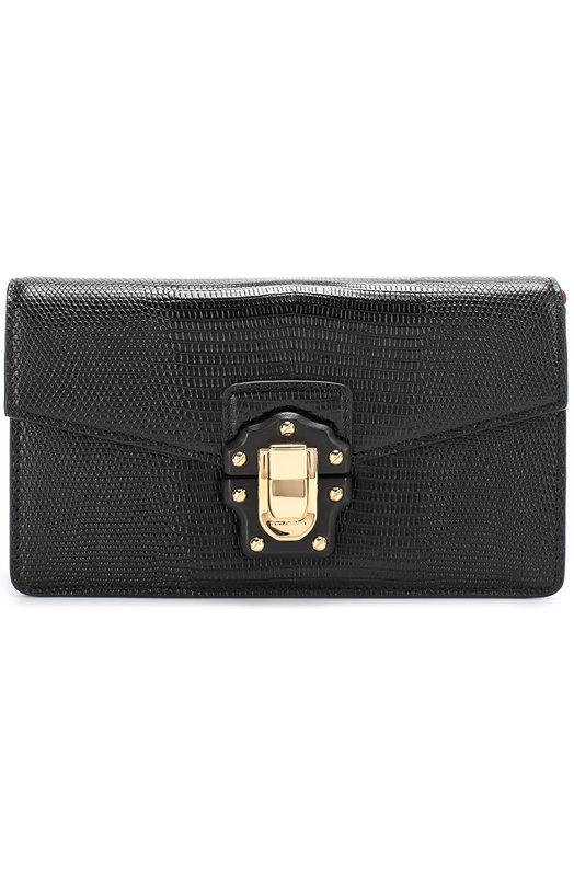 Купить Клатч Lucia на цепочке Dolce & Gabbana, 0116/BB6346/AI285, Италия, Черный, Кожа натуральная: 100%;
