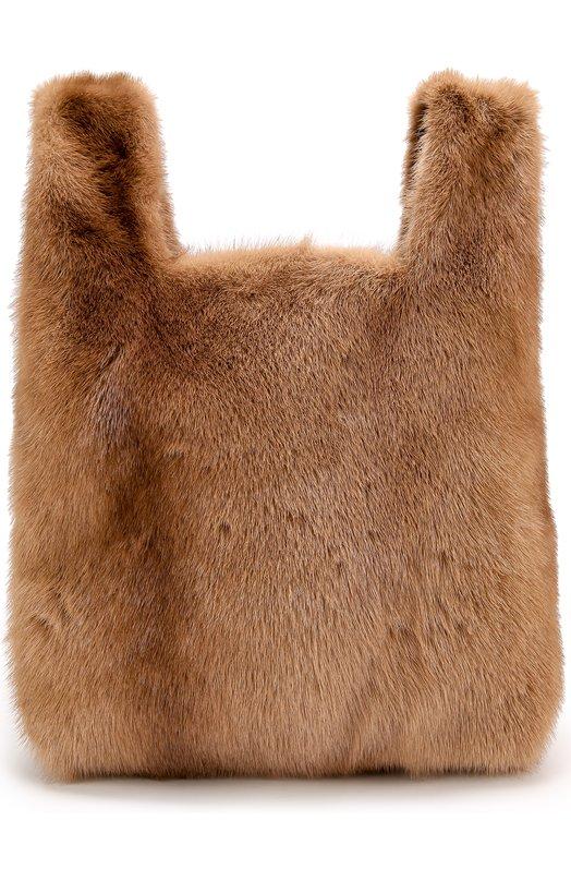Купить Сумка Furissima из меха норки Simonetta Ravizza, FURR1/507-3, Италия, Коричневый, Мех/норка/: 100%;