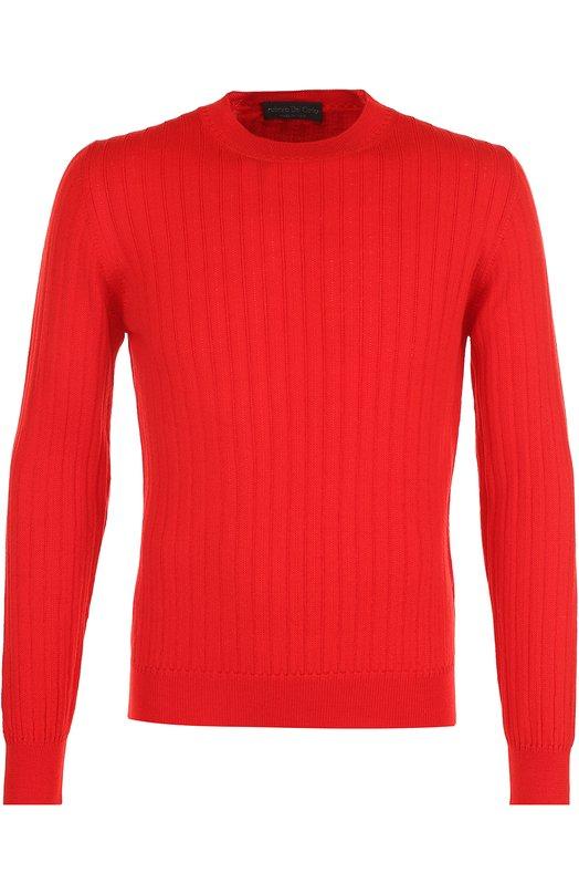 Купить Шерстяной джемпер фактурной вязки Fabrizio Del Carlo, CC2010, Италия, Красный, Шерсть меринос: 100%;