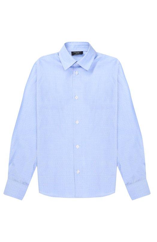 Купить N402/8309/7-12, Хлопковая рубашка прямого кроя Dal Lago, Италия, Голубой, Хлопок: 100%;, Мужской, Рубашки