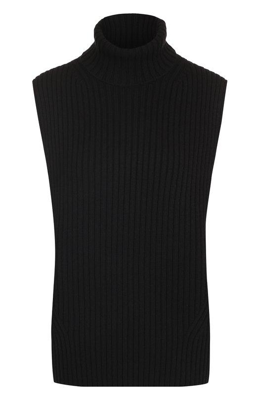 Купить Свитер фактурной вязки без рукавов Dries Van Noten, 172-11295-4734, Китай, Черный, Шерсть: 100%;