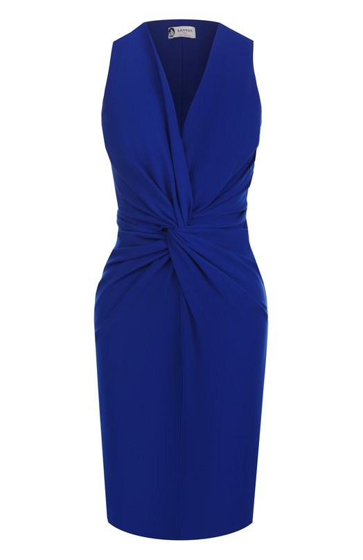 Платье-футляр с драпировкой Lanvin