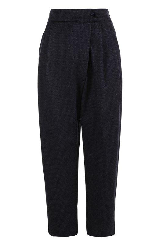 Купить Шерстяные укороченные брюки с защипами Armani Collezioni Китай 5193245 ZMP30T/ZM131