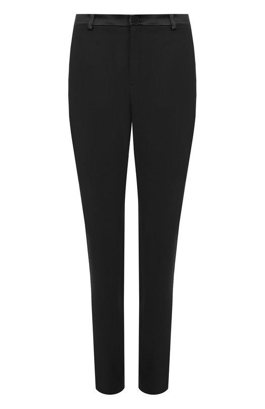 Купить Шерстяные брюки прямого кроя с карманами Lanvin, RW-TR501T-3633-A17, Словакия, Черный, Шерсть: 97%; Эластан: 3%; Отделка-вискоза: 100%;