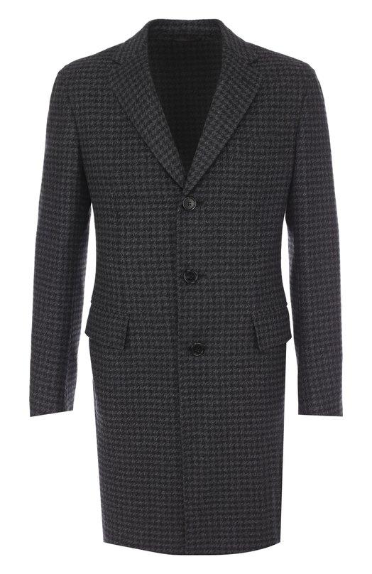 Купить Однобортное кашемировое пальто с отложным воротником Brioni, R0QN/06395, Италия, Серый, Кашемир: 100%;