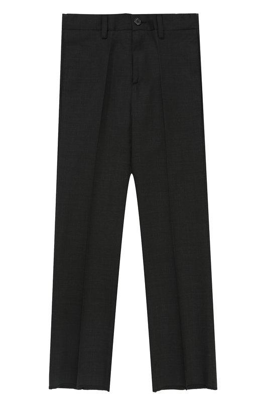 Шерстяные брюки прямого кроя Dal Lago, N202/1011/4-6, Италия, Темно-серый, Шерсть овечья: 100%; Подкладка-полиэстер: 100%;  - купить