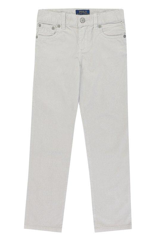 Купить Хлопковые брюки прямого кроя Polo Ralph Lauren, 312671131, Китай, Серый, Хлопок: 98%; Эластан: 2%;