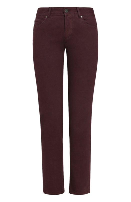 Купить Однотонные джинсы прямого кроя Loro Piana, FAF4049, Италия, Фиолетовый, Хлопок: 98%; Эластан: 2%;