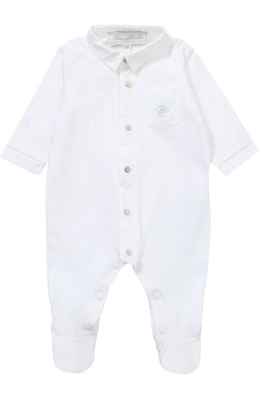 Купить Хлопковая пижама с вышивкой Tartine Et Chocolat, TK54111/1M-18M, Португалия, Белый, Хлопок: 100%;