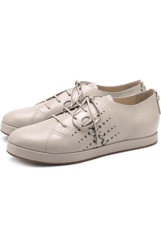 Купить Кожаные ботинки на шнуровке Giorgio Armani, X1X009/XF151, Италия, Серый, Кожа натуральная: 100%; Стелька-кожа: 100%; Подошва-резина: 100%;