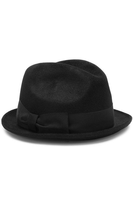 Фетровая шляпа с лентой Giorgio Armani Giorgio Armani