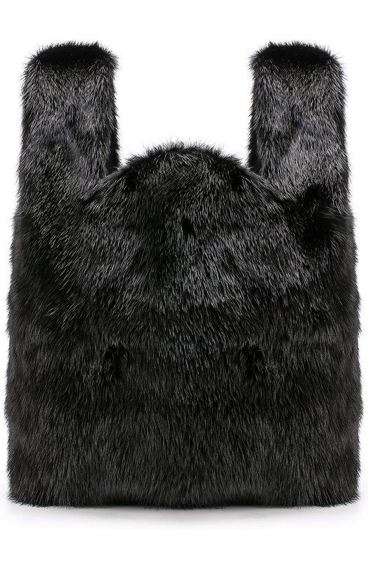 Купить Сумка Furissima из меха норки Simonetta Ravizza, FURR1/501-1, Италия, Черный, Мех/норка/: 100%;