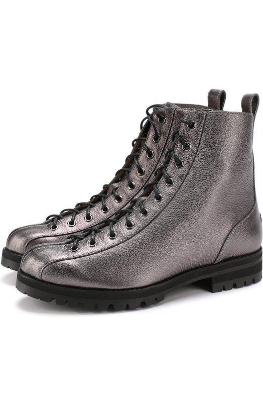 Ботинки Brooke из металлизированной кожи на шнуровке Jimmy Choo