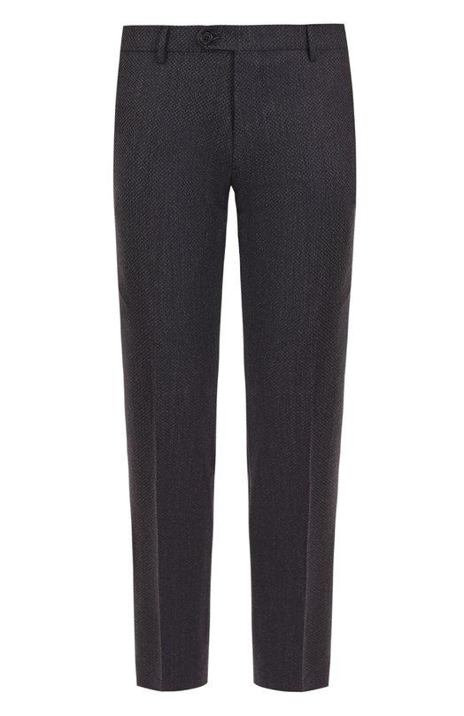Купить Шерстяные брюки прямого кроя Berwich, SC/1/LB2106, Италия, Темно-синий, Шерсть: 98%; Эластан: 2%;