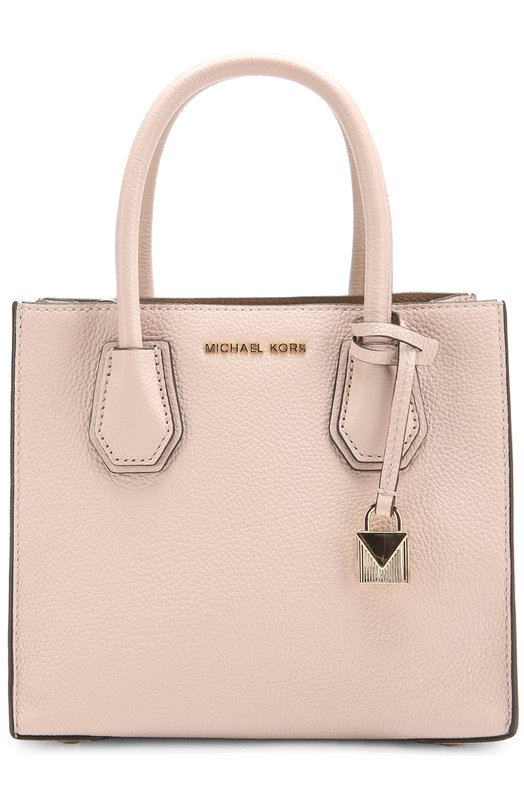 Купить Сумка-тоут Mercer Medium MICHAEL Michael Kors, 30F6GM9M2L, Бангладеш, Светло-розовый, Кожа натуральная: 100%;