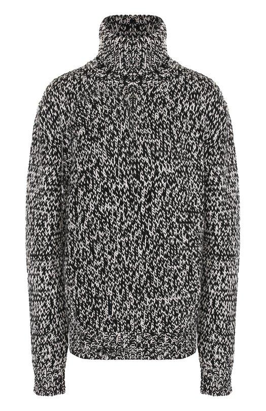 Шерстяной свитер прямого кроя Saint Laurent